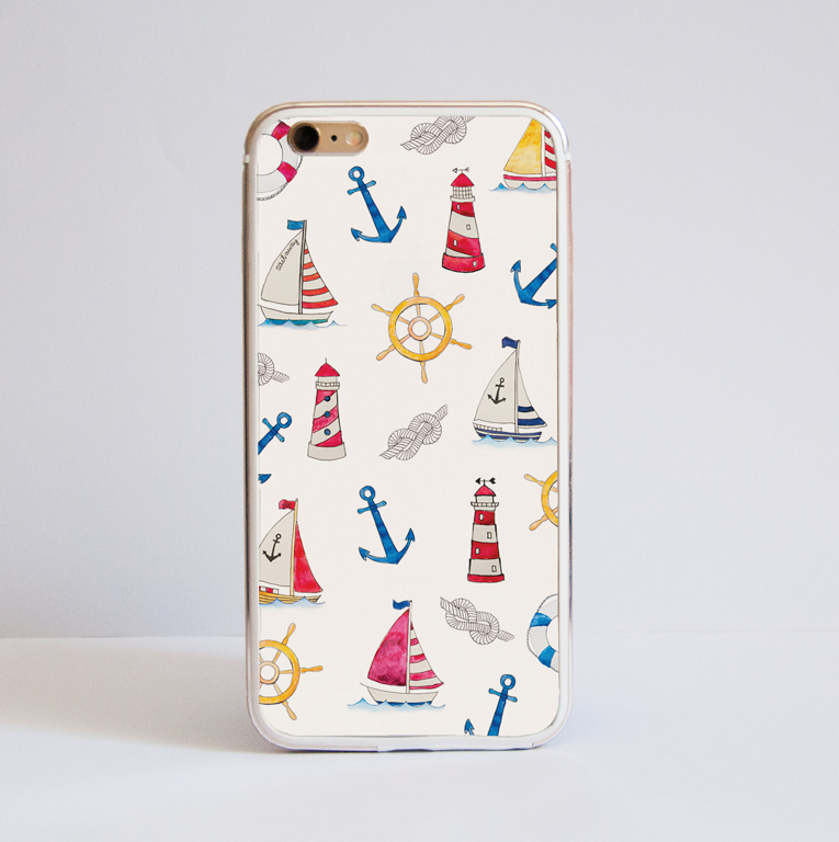 Boats Bumper Cell Phone Case iPhone Front | Available at Dessi-Designs.com