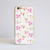 White Cherry Blossom iPhone Bumper Phone Case Front | Available at Dessi-Designs.com