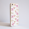White Cherry Blossom iPhone Bumper Phone Case Side | Available at Dessi-Designs.com