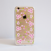 Clear Cherry Blossom Bumper Phone Case Front | Available at Dessi-Designs.com