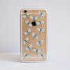 Clear Dragonfly iPhone Bumper Phone Case Front | Available at Dessi-Designs.com