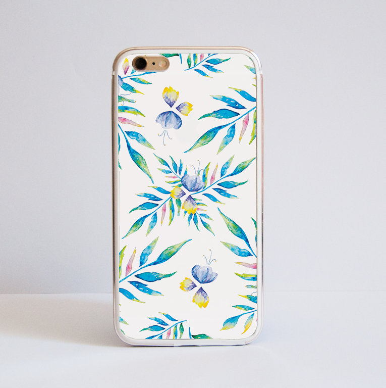 Watercolour Floral bumper cover