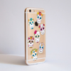 Clear Sugar Skulls iPhone Bumper Phone Case Side | Available at Dessi-Designs.com