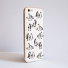 White Penguins Bumper Phone Case Side | Available at Dessi-Designs.com