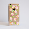 Peaches Clear iPhone Bumper Phone Case Front | Available at Dessi-Designs.com