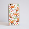 Foxes Bumper Phone Case iPhone Gold | Available at Dessi-Designs.com