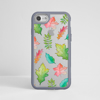 Fall Leaves Clear iPhone Bumper Phone Case Grey | Available at Dessi-Designs.com