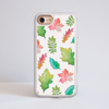 White Fall Leaves iPhone Impact Phone Case White | Available at Dessi-Designs.com
