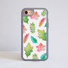 White Fall Leaves iPhone Impact Phone Case Grey | Available at Dessi-Designs.com