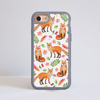 Orange Foxes Impact Phone Case iPhone Grey | Available at Dessi-Designs.com