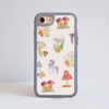 Mushrooms iPhone Impact Phone Case Grey | Available at Dessi-Designs.com
