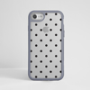 Clear Polka Dots iPhone Bumper Phone Case Grey | Available at Dessi-Designs.com