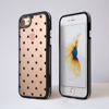 Clear Polka Dots iPhone Bumper Phone Case Black | Available at Dessi-Designs.com