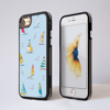 Blue Boats Impact iPhone Case Front and Back | Available at Dessi-Designs.com