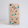 Clear Ducks White iPhone Impact Resistant Phone Case Front | Available at Dessi-Designs.com