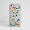 Clear Ducks White iPhone Impact Resistant Phone Case Silver iPhone Front | Available at Dessi-Designs.com
