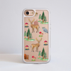 Forest Pattern Impact Resistant Phone Case White | Available at www.Dessi-Designs.com