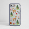 Forest Pattern Impact Resistant Phone Case Grey | Available at www.Dessi-Designs.com
