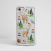 Forest Pattern Impact resistant Phone Case White Frame | Available at www.Dessi-Designs.com