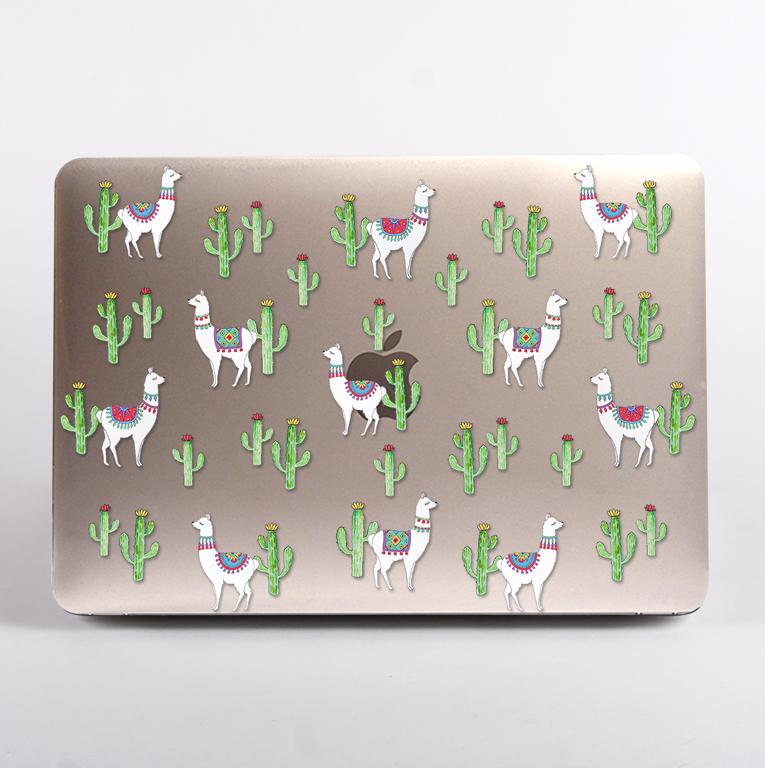Llamas MacBook Case top part. Available at www.Dessi-Designs.com
