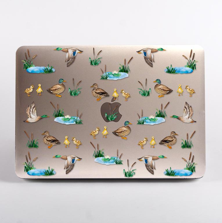 Clear Ducks MacBook Case Top Cover
