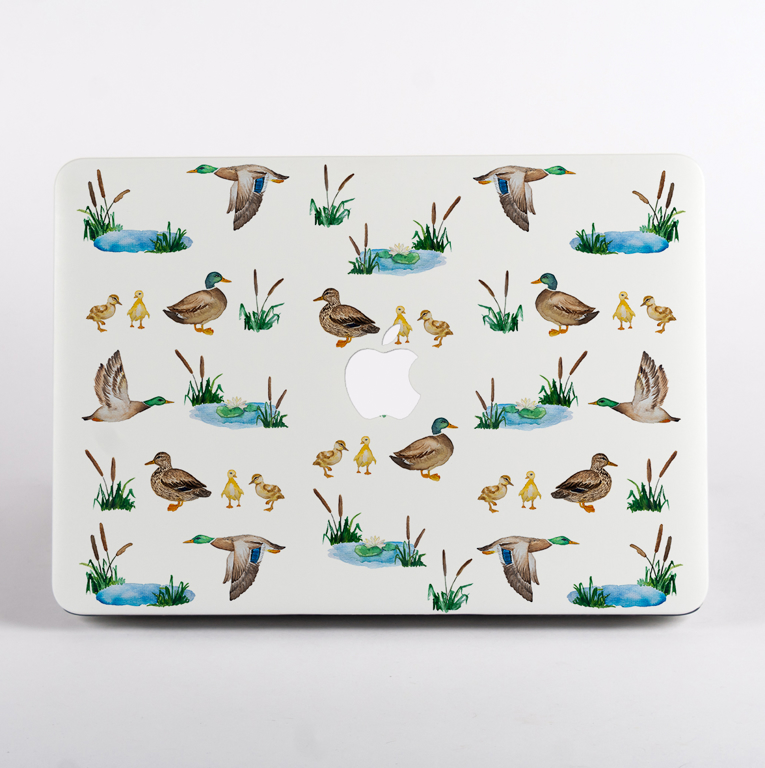 Ducks MacBook Case Front Cover. Available at www.Dessi-Designs.com