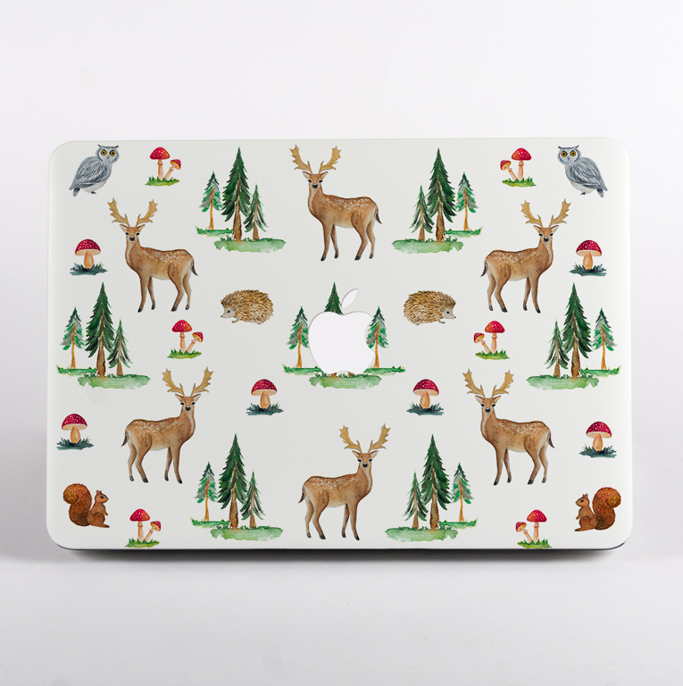 Forest MacBook Case Front Cover. Available at www.Dessi-Designs.com