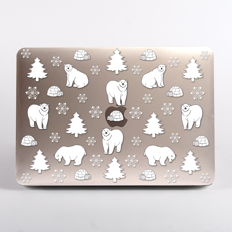 Polar Bears MacBook Case. Available at www.Dessi-Designs.com
