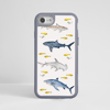 Sharks Impact iPhone Case. Grey Frame. Available at www.dessi-designs.com
