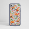 Foxes Clear Impact Phone Case Grey Frame | Dessi Designs