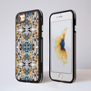 Kaleidoscope Animal Print Impact Phone Case Black Frame | Available at www.Dessi-Designs.com