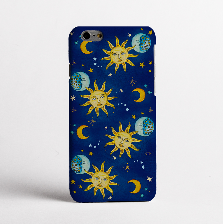 Vintage Celestial Bumper Slimline Phone Case | Available at www.Dessi-Designs.com