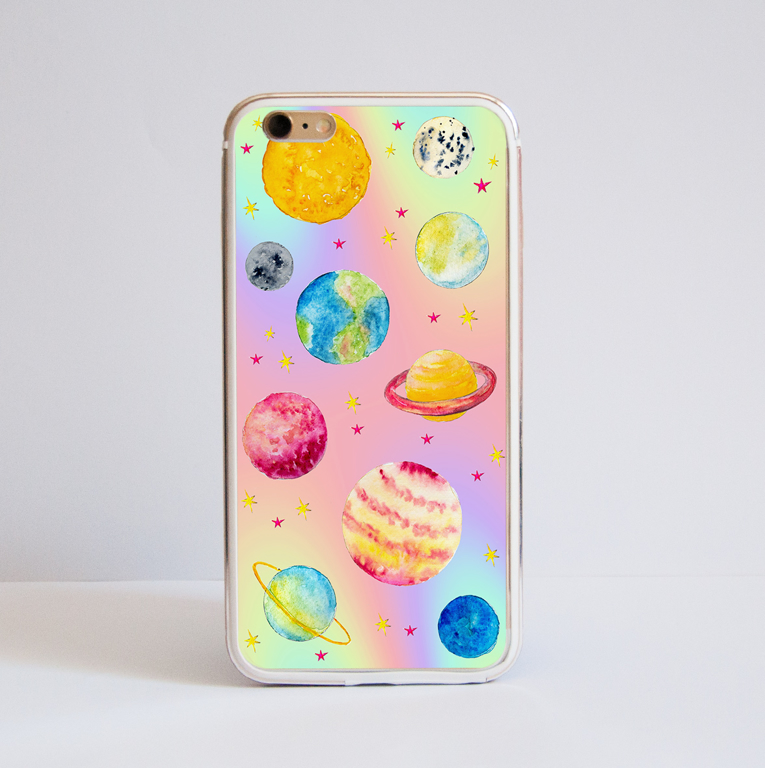 Magical Cosmos Bumper Phone Case Front | Available at www.dessi-designs.com