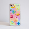 Magical Cosmos Impact Resistant Phone Case White Frame   Available at www.dessi-designs.com
