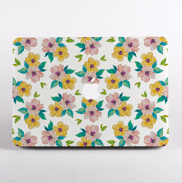 Watercolour Blossoms MacBook Case Front | Available at Dessi-Designs.com