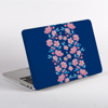 Blossoms in Pink and Blue MacBook Case Side | Available at Dessi-Designs.com