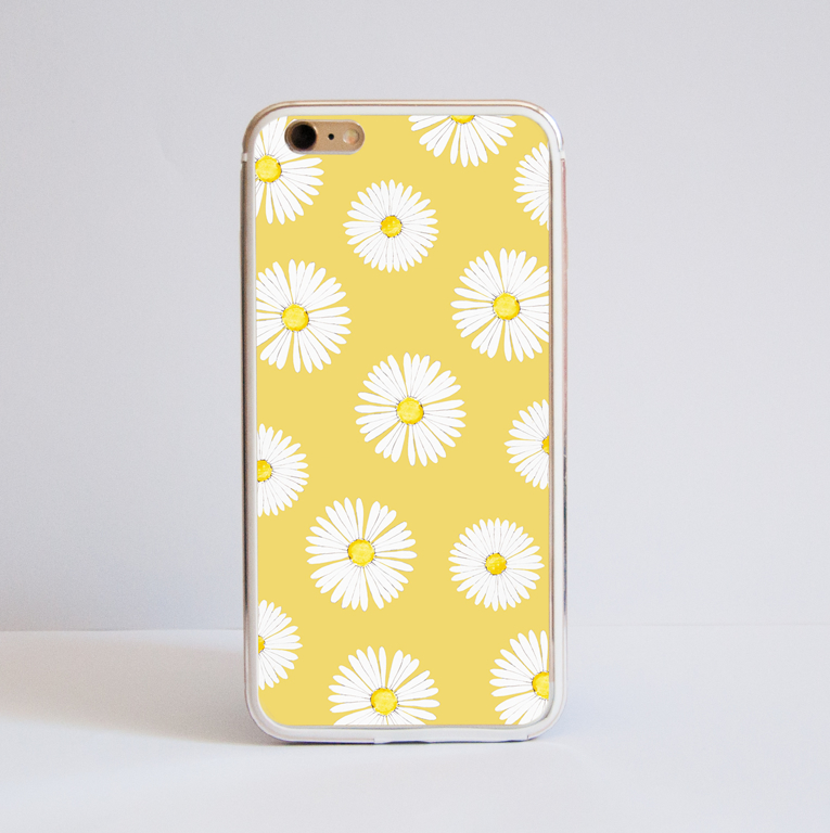 Daisy Flowers Bumper Phone Case Front | Available at Dessi-Designs.com