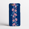 Blossoms in Pink and Blue Phone Case Front | Available at www.dessi-designs.com