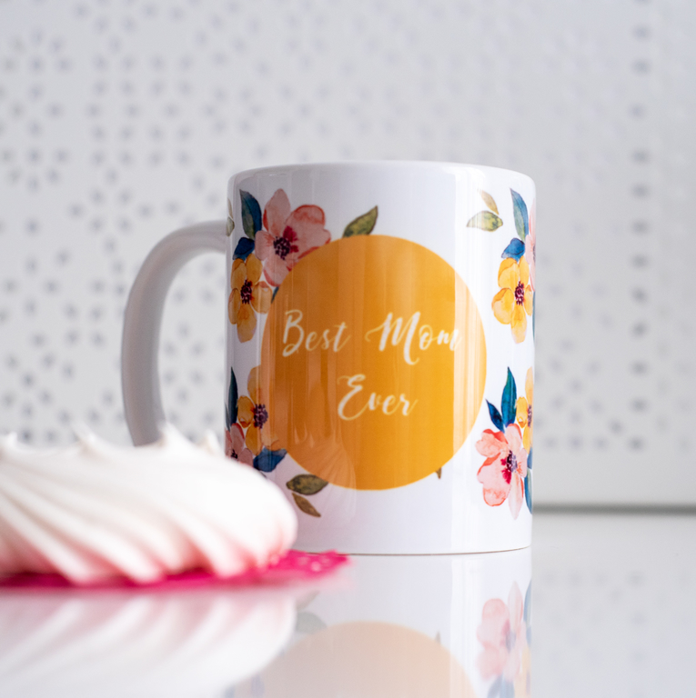 Floral Mug Mother's day gift | Available at www.Dessi-designs.com