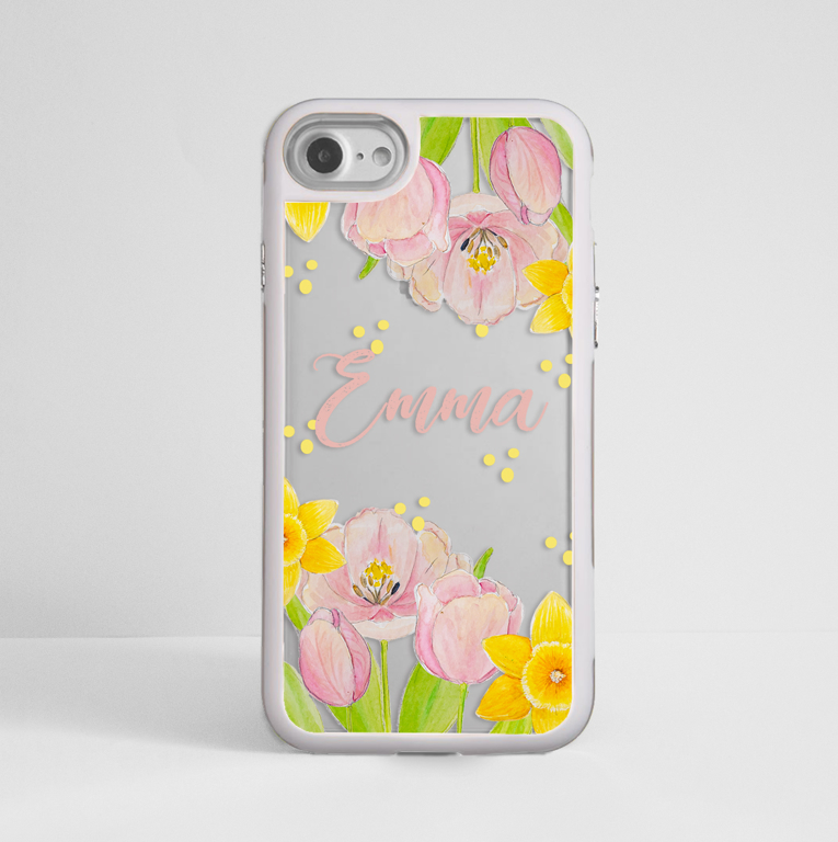 Spring Flowers Impact Phone Case White - www.dessi-designs.com