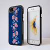 Blossoms in Pink and Blue Impact Phone Case Black Side - www.dessi-designs.com