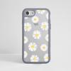 Clear Daisy Impact Phone Case Grey - www.dessi-designs.com