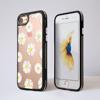 Clear Daisy Impact Phone Case Black Side - www.dessi-designs.com