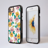 Watercolour Floral Blossom Impact Phone Case Black Side - www.dessi-designs.com