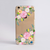 Summer Florals Clear Plastic Phone Case Front - ww.dessi-designs.com