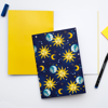 Retro Celestial A5 Notebook - www.Dessi-Designs.com