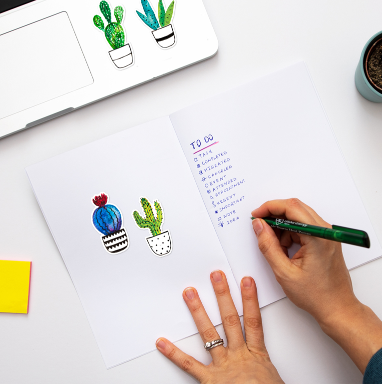 Cactus Paper Journal Stickers | Available at www.dessi-designs.com