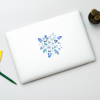 Blue Florals Removable Sticker | Available at www.dessi-designs.com