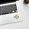 Watercolour Blossoms Laptop Sticker | Available at www.dessi-designs.com
