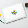 Watercolour Blossoms MacBook Sticker | Available at www.dessi-designs.com